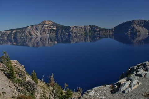 Crater Lake OR photo taken from the rim